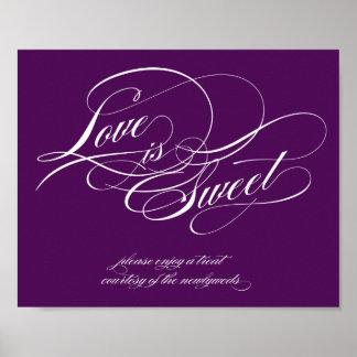 El amor es muestra dulce impresiones