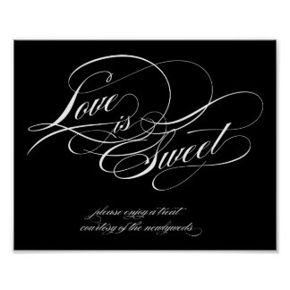 El amor es muestra dulce poster