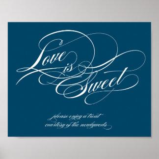 El amor es muestra dulce póster