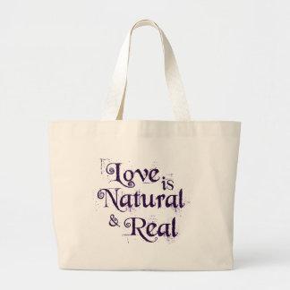 El amor es natural y real… bolsa