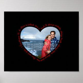 El amor es negro y rojo pacientes del corazón de l impresiones