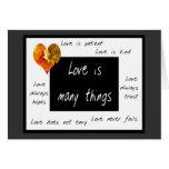 El amor es notecards pacientes tarjeta