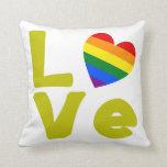 El amor es oro gay almohadas