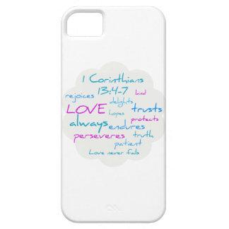 El amor es paciente, amor es bueno funda para iPhone SE/5/5s