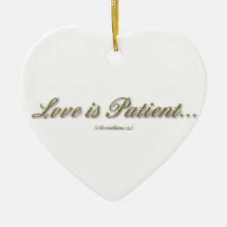 El amor es paciente, amor es ornamento bueno adornos