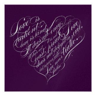 El amor es paciente corazón de la escritura de la comunicado