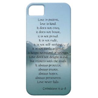 El amor es paciente, Corinthians, montañas de Funda Para iPhone SE/5/5s
