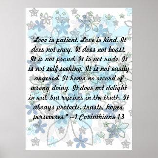 El amor es paciente. El amor es bueno. … Póster