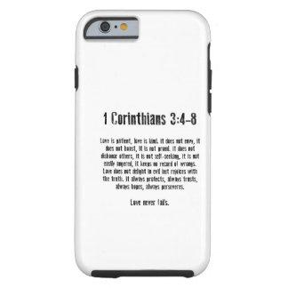 El amor es paciente funda de iPhone 6 tough