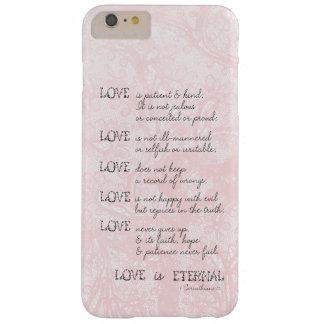 El amor es paciente funda para iPhone 6 plus barely there