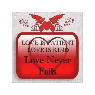 El amor es paciente impresion de lienzo