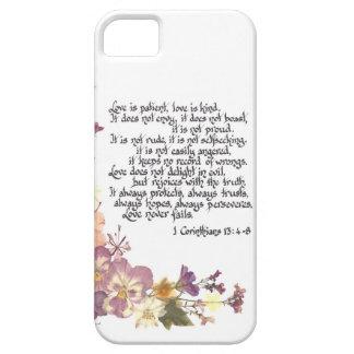 El amor es paciente iPhone 5 funda