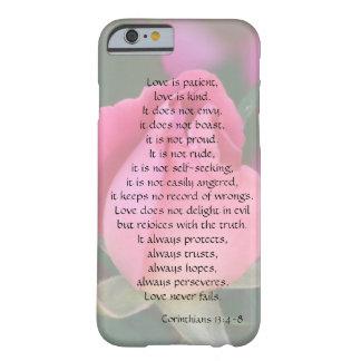 El amor es paciente, los Corinthians versifica, Funda Barely There iPhone 6
