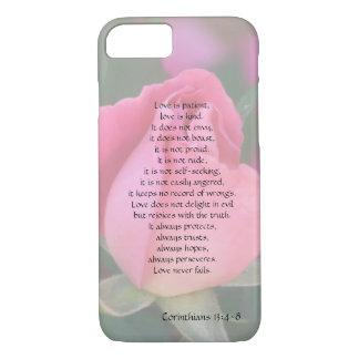 El amor es paciente, los Corinthians versifica, Funda iPhone 7
