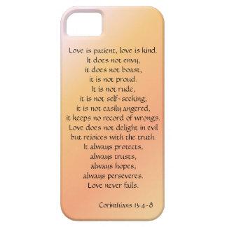 El amor es paciente, los Corinthians versifica, Funda Para iPhone SE/5/5s