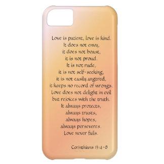 El amor es paciente, los Corinthians versifica, iP Carcasa iPhone 5C