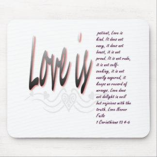 El amor es paciente mousepads
