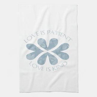 El amor es paciente toallas de cocina