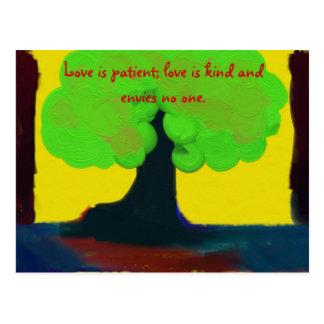 El amor es paciente postales