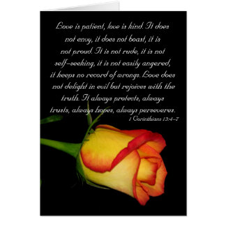 El amor es paciente… felicitación