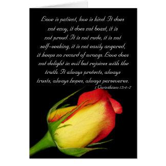 El amor es paciente… tarjeta de felicitación