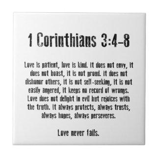 El amor es paciente tejas