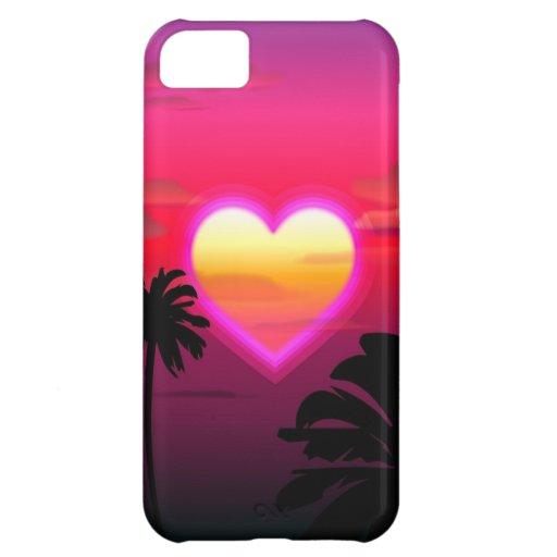 El amor es para siempre caso del iPhone 5 Funda Para iPhone 5C