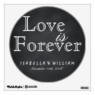 El amor es para siempre pegatina del boda de la vinilo decorativo