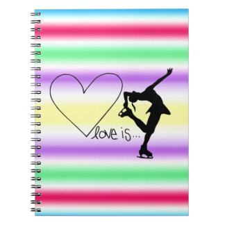 El amor es patinaje artístico, patinador del chica libretas