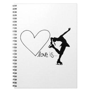 El amor es patinaje artístico, patinador del chica libretas espirales