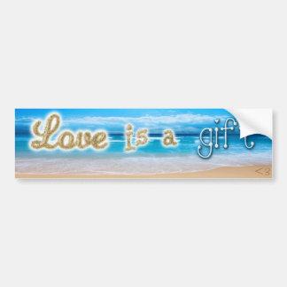 El amor es pegatina del regalo pegatina de parachoque