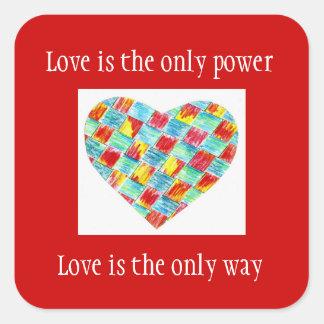 """El """"amor es pegatina del único poder"""""""