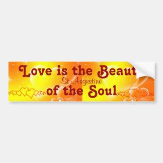 el amor es pegatina para el parachoques de la bell pegatina para auto