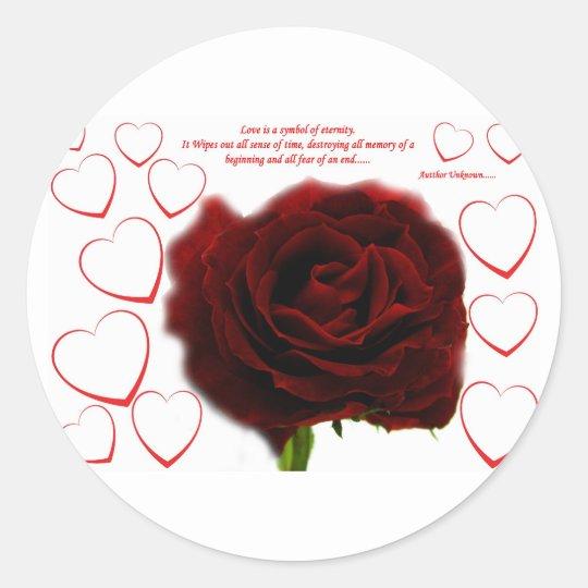 El amor es ..... pegatina redonda