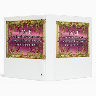 El amor es ..... poema en la parte posterior de la