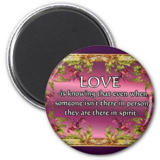 El amor es ..... poema en la parte posterior de la imanes