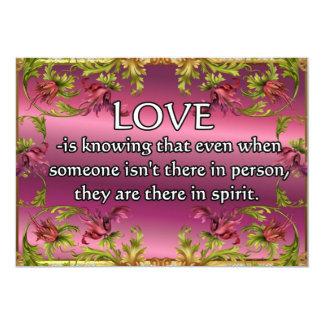 El amor es ..... poema en la parte posterior de la anuncios