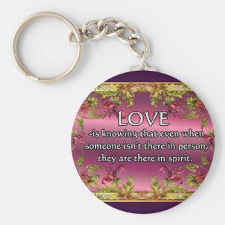 El amor es ..... poema en la parte posterior de la llaveros personalizados