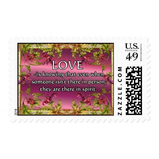 El amor es ..... poema en la parte posterior de la envio