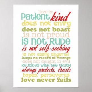 el amor es poster de los corinthians 13 del pacien