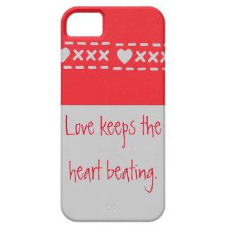 El amor es qué guarda el golpeo del corazón funda para iPhone SE/5/5s