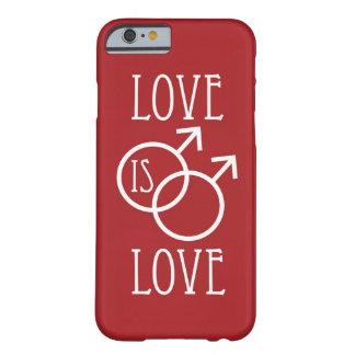 El amor es rojo del amor (varón) funda para iPhone 6 barely there