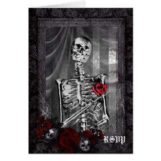 El amor es RSVP que se casa gótico eterno Tarjeta Pequeña