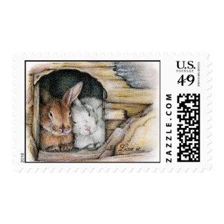 El amor es… sello postal