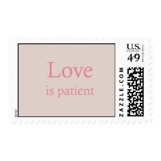 El amor es sello rosado paciente