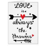 El amor es siempre la tarjeta de felicitación de