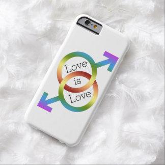 El amor es símbolos masculinos del género del arco funda para iPhone 6 barely there