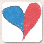 ¡El amor es simple y colorido! Posavasos De Bebida