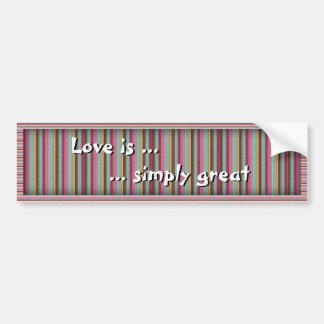 El amor es… simplemente grande pegatina para auto
