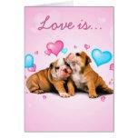 El amor es tarjeta caliente y borrosa del el día d